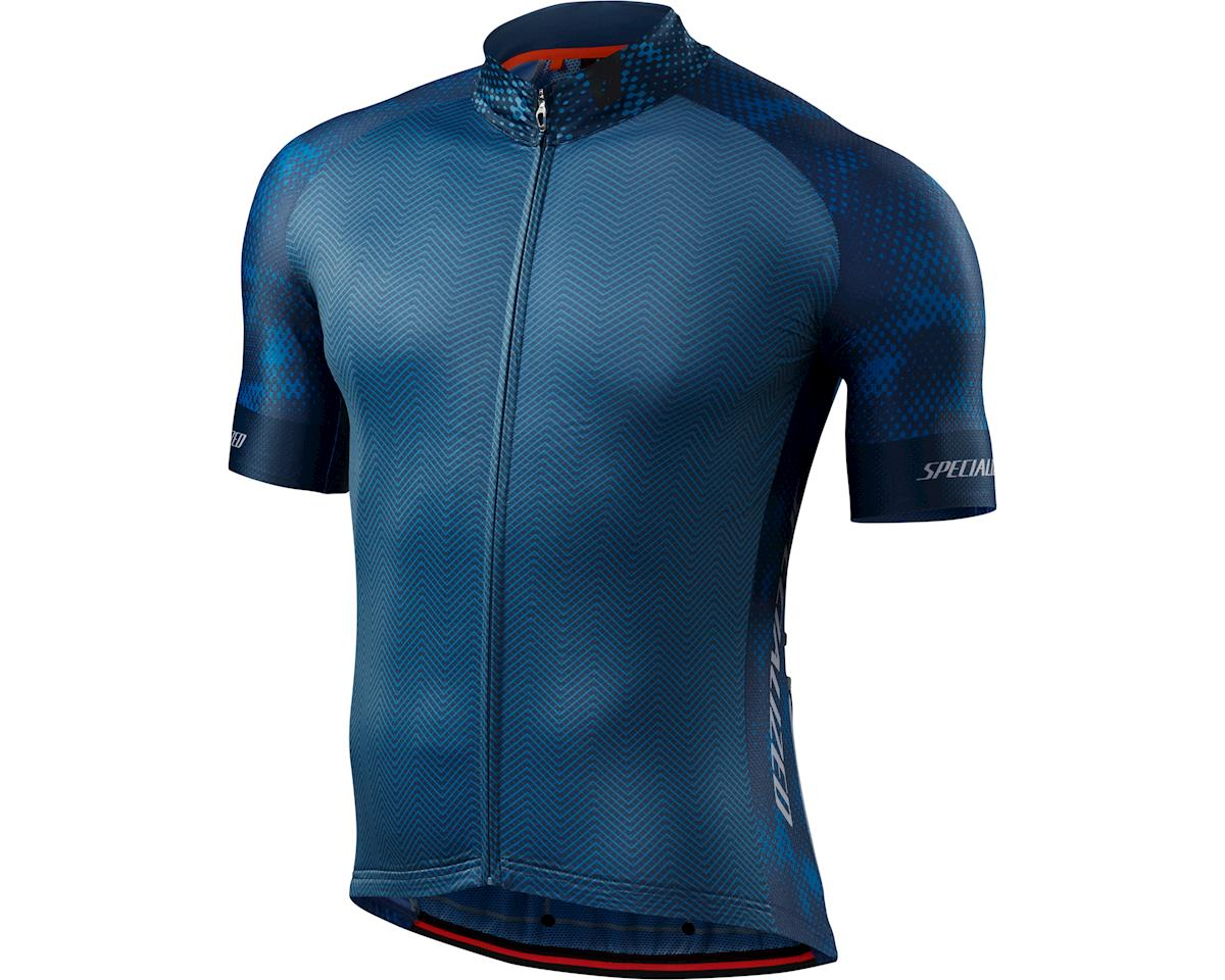 Specialized SL Pro Jersey (RF Matrix/Dust Blue) (Small/Tall)