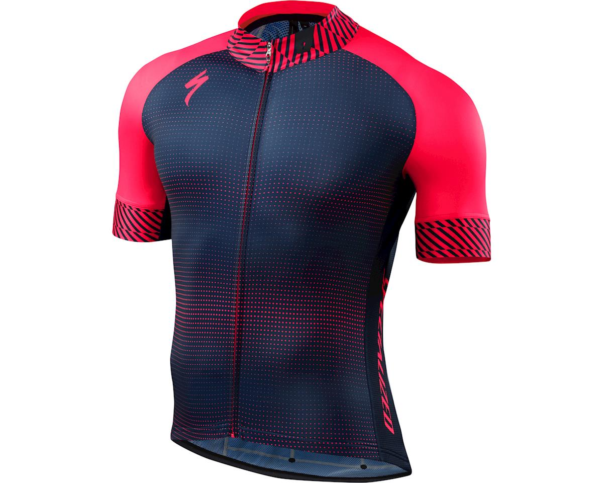 Specialized SL Expert Jersey (Dot Fade/Acid Red) (Small/Tall)