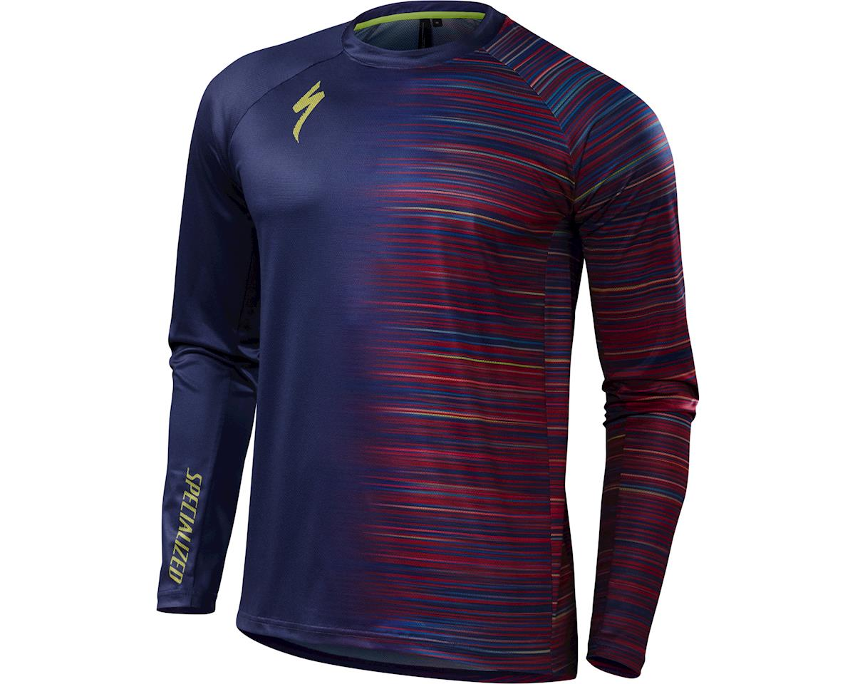 Specialized Demo Long Sleeve Jersey (Deep Indigo Speed Blur) (2XL)