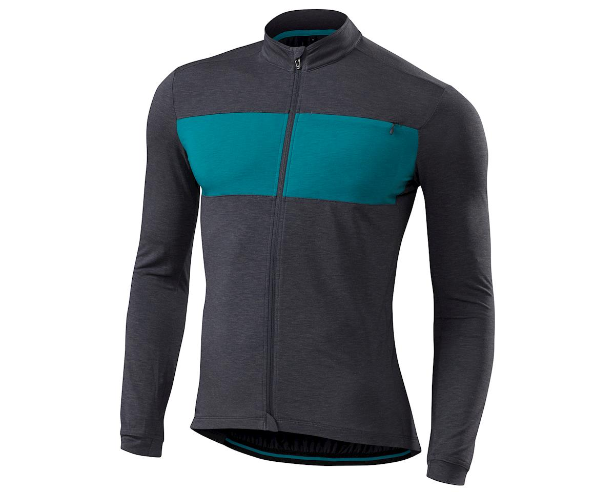 Specialized 18 RBX drirelease Merino Long Sleeve Jersey (Carbon/Deep Turquoise)