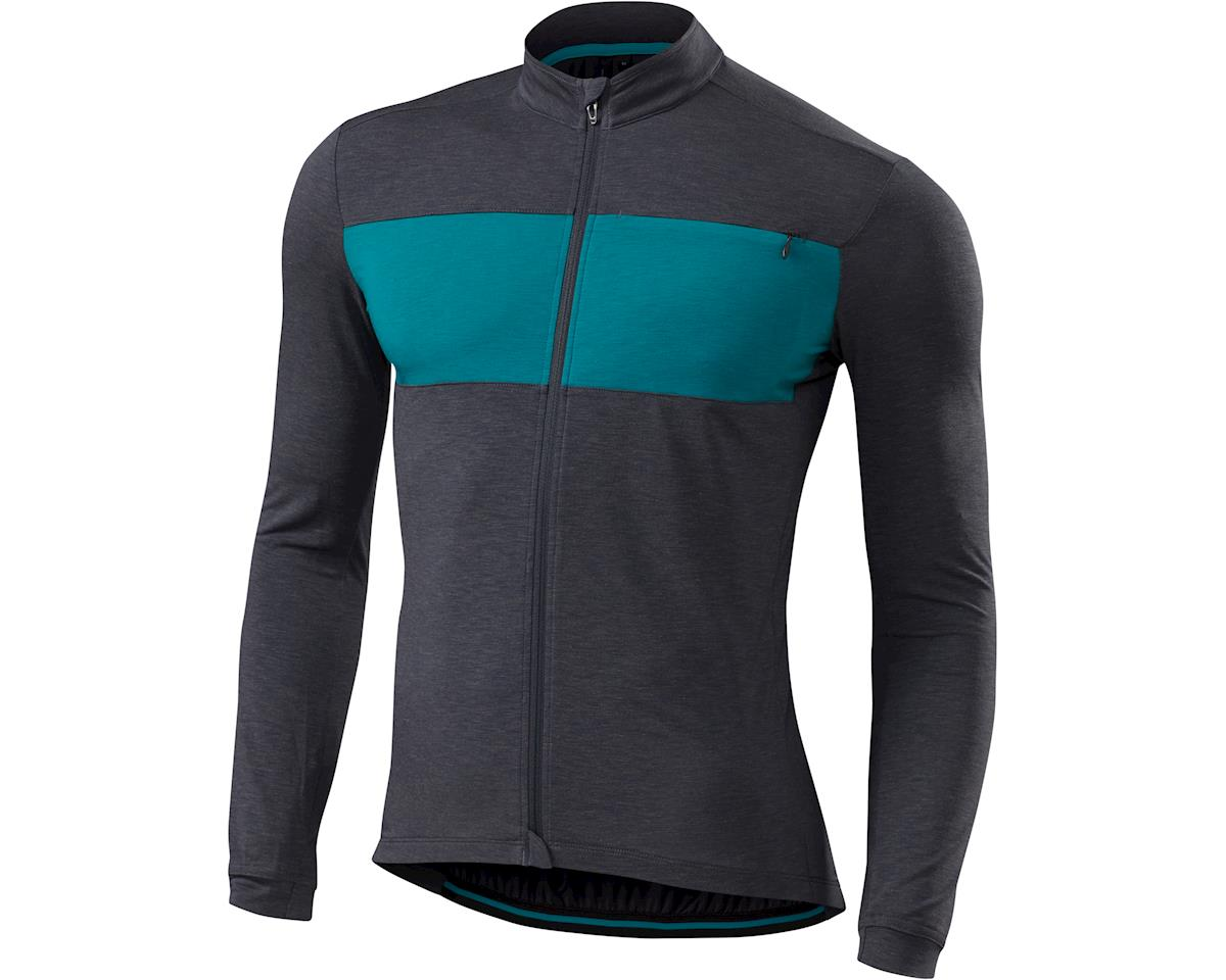 Specialized RBX drirelease Merino Long Sleeve Jersey (Carbon/Deep Turquoise) (2XL)