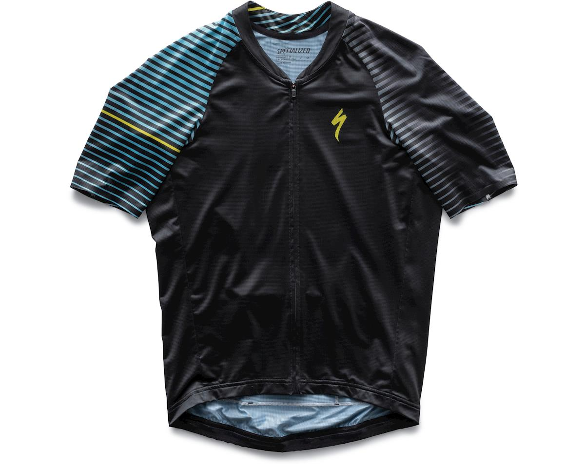 Specialized SL Air Short Sleeve Jersey (Black/Nice Blue Aspect) (M)