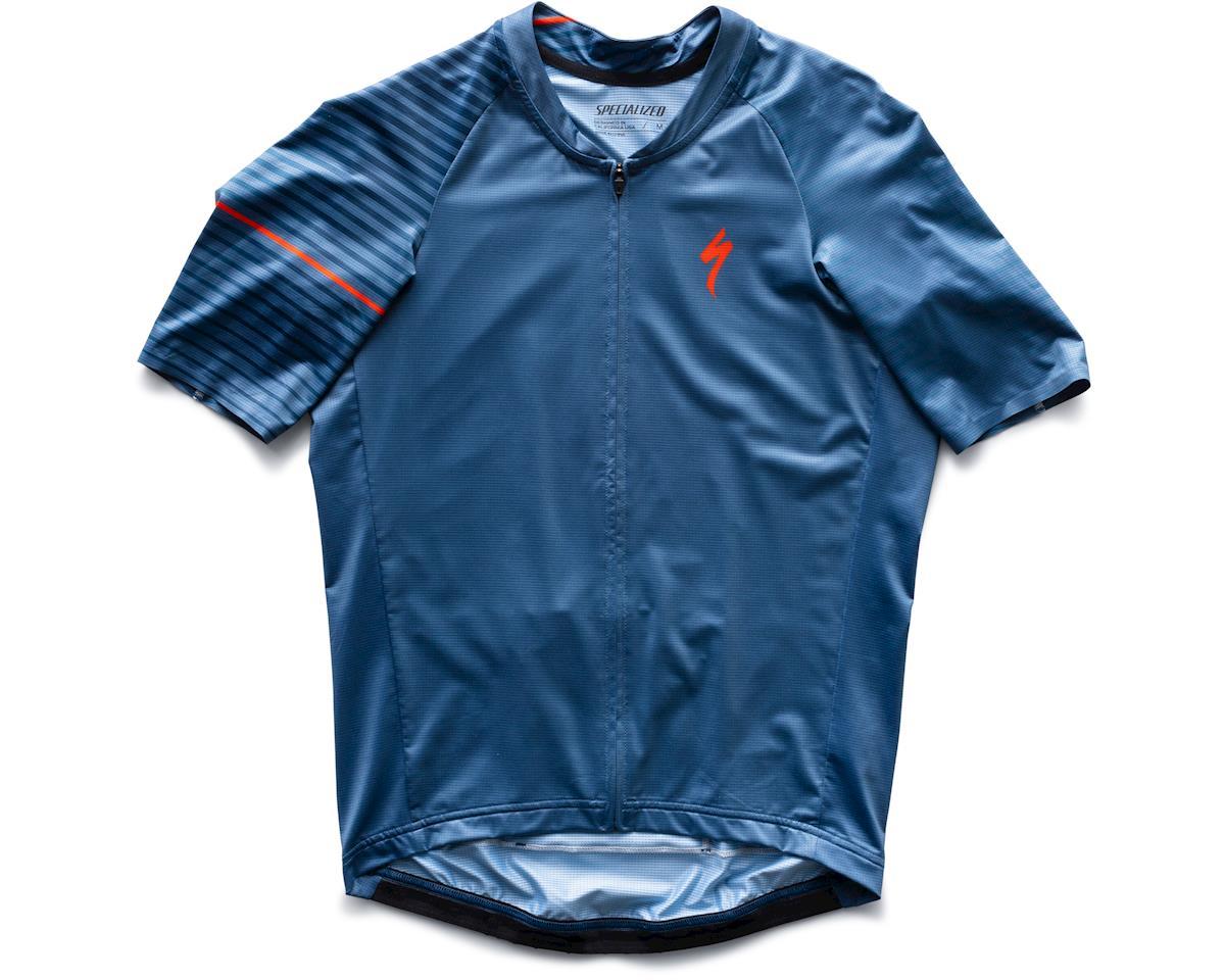 Specialized SL Air Short Sleeve Jersey (Storm Grey/Cast Blue Aspect) (XL)