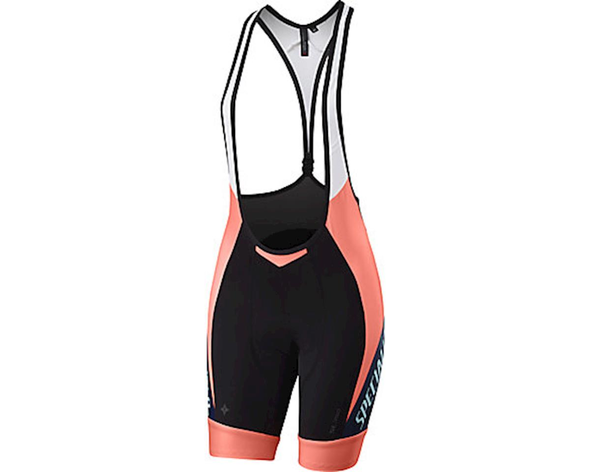 Specialized Women's SL Pro Bib Shorts (Team Neon Coral/Navy) (L)