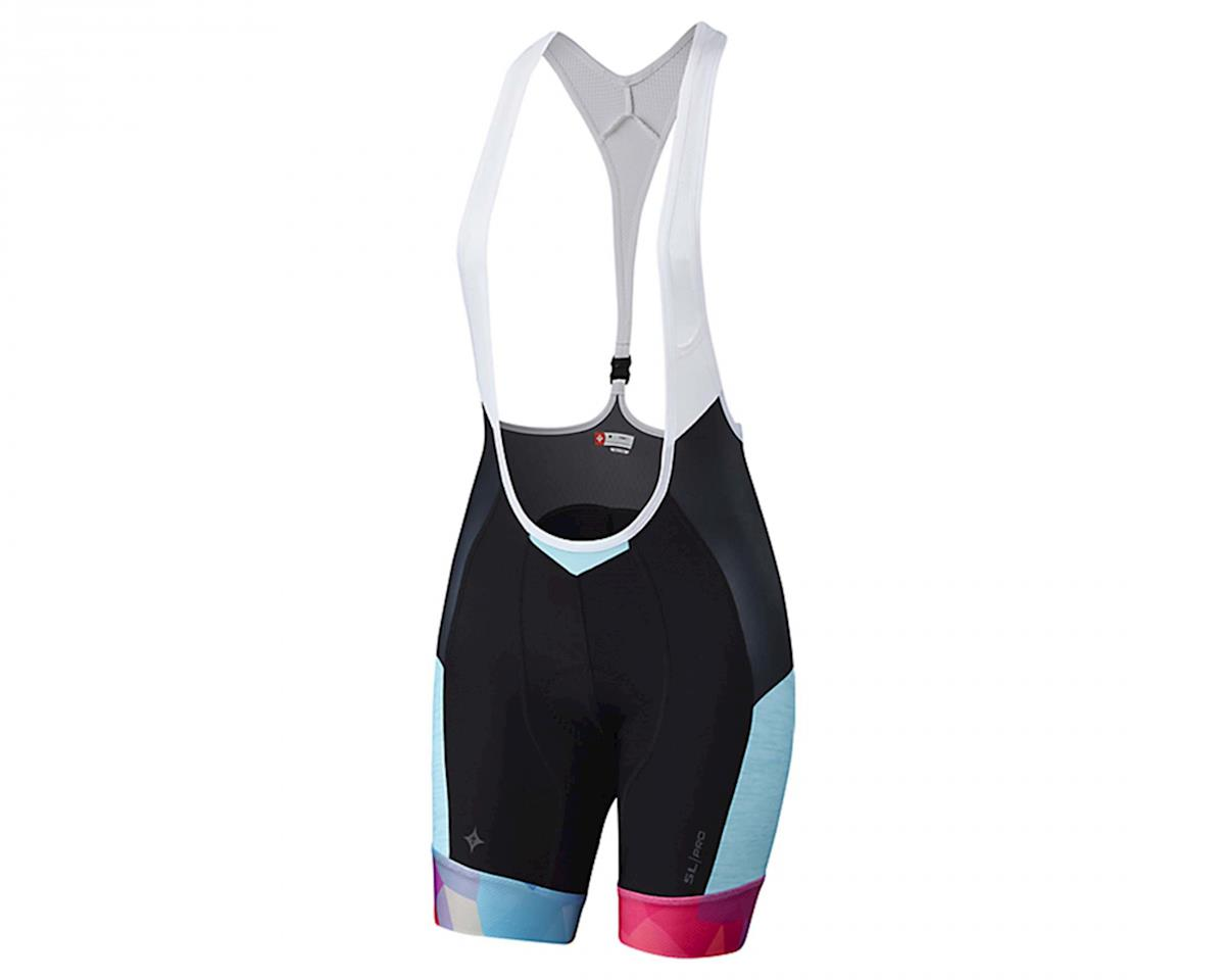 SL Pro Women's Bib Shorts w/ Hookup (Turquoise/Geo Fade)