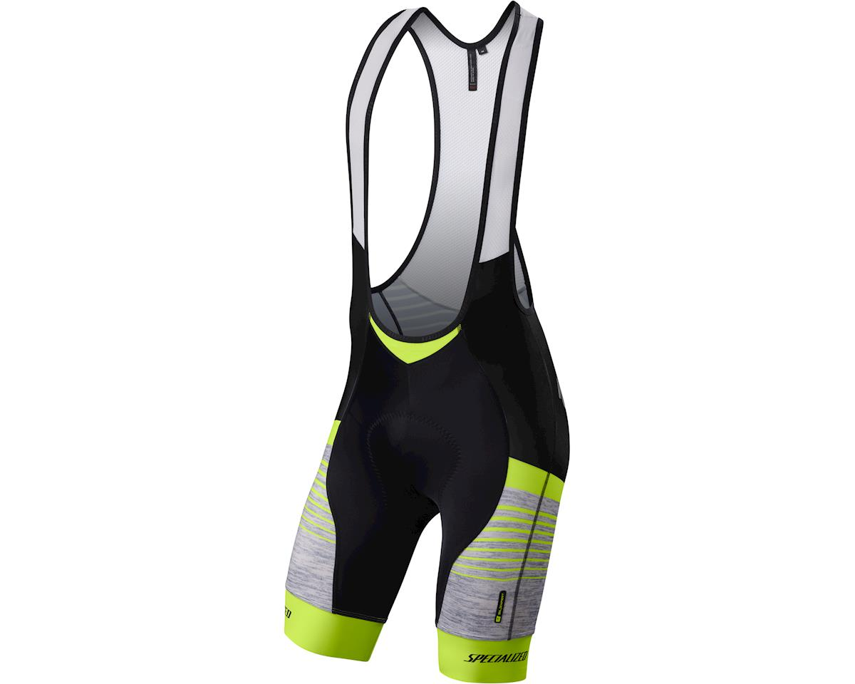 Specialized SL Expert Bib Shorts (Light Grey Heather/Neon Yellow)