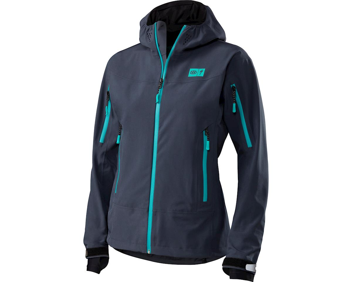 Specialized Women's 686 x Specialized Tech Jacket (Navy Haze/Bright Teal) (XS)