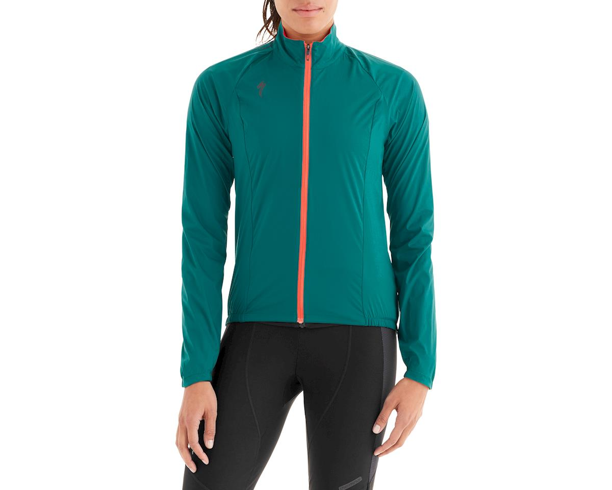 Specialized Women's Deflect Wind Jacket (Black Teal)