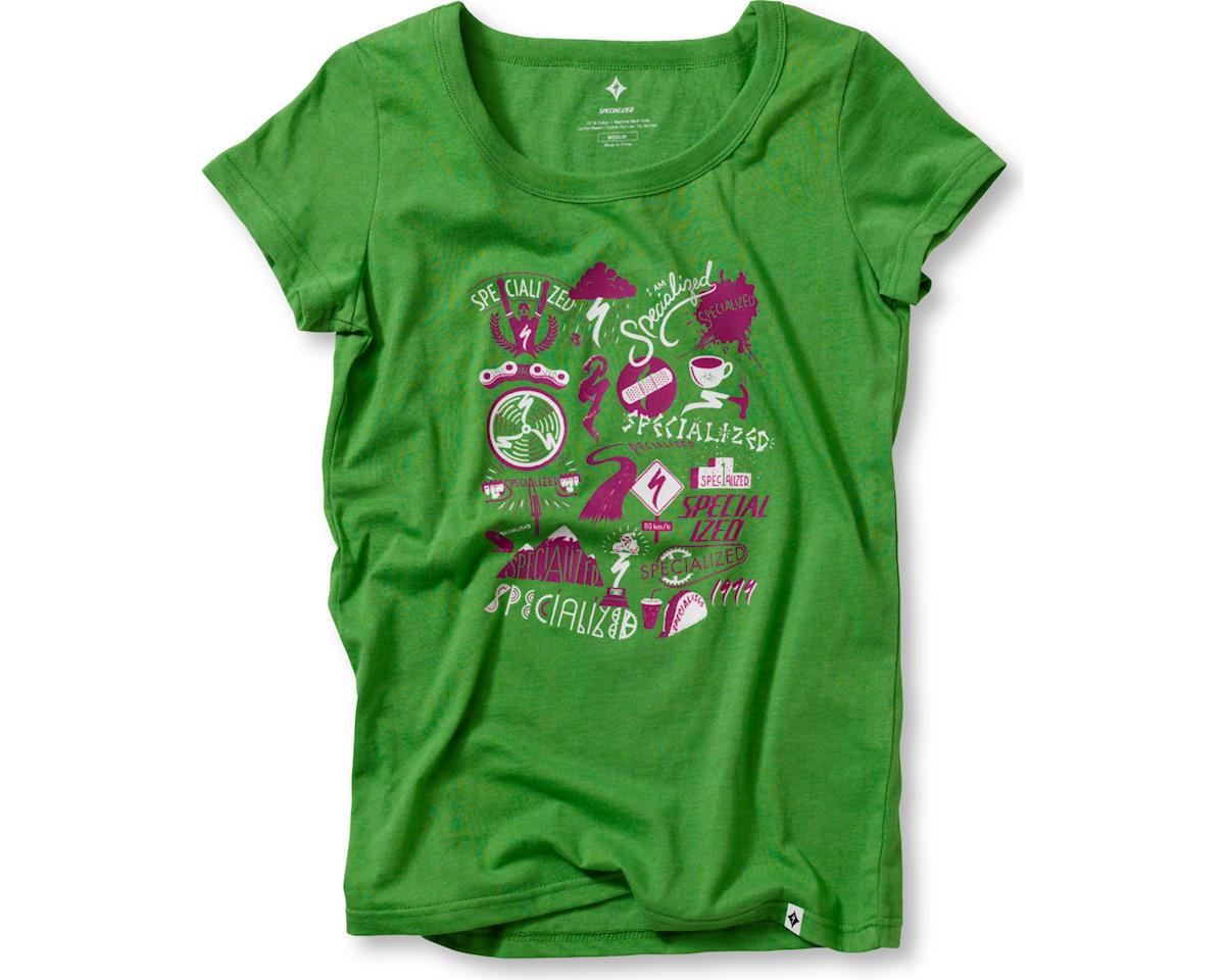 Specialized Women's Collage T-Shirt (Green/White) (S)