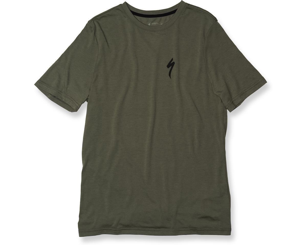 Specialized drirelease S Logo Tee (Oak Green/Black) (XL)