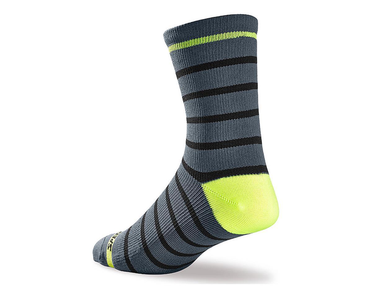 Specialized SL Tall Socks (Lt Grey/Neon Yellow) (L/XL)