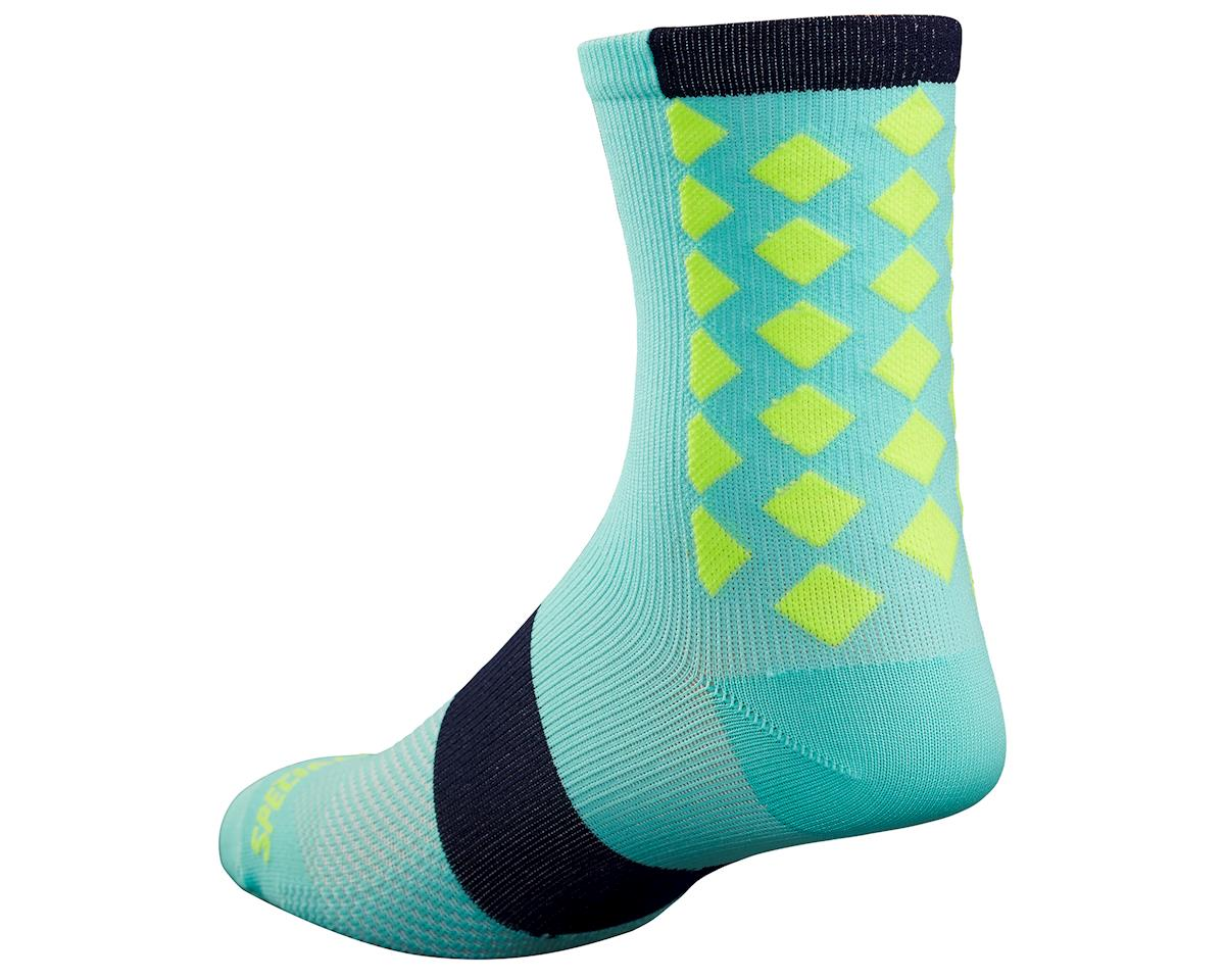 Specialized 2017 SL Tall Socks (Lt Turquoise/Neon Yellow)