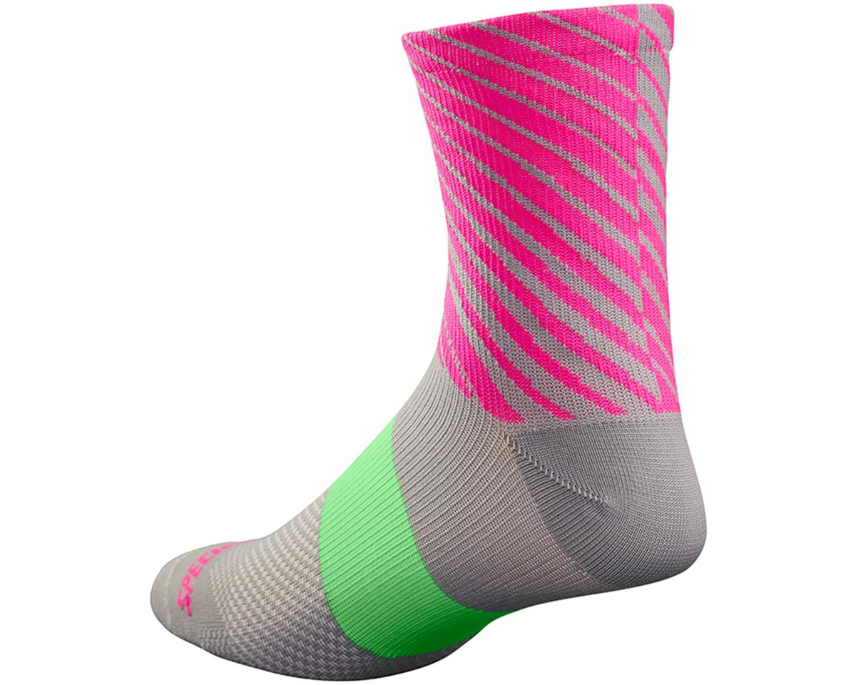 Specialized SL Women's Tall Socks (Light Grey/Neon Pink) (Medium/Large)