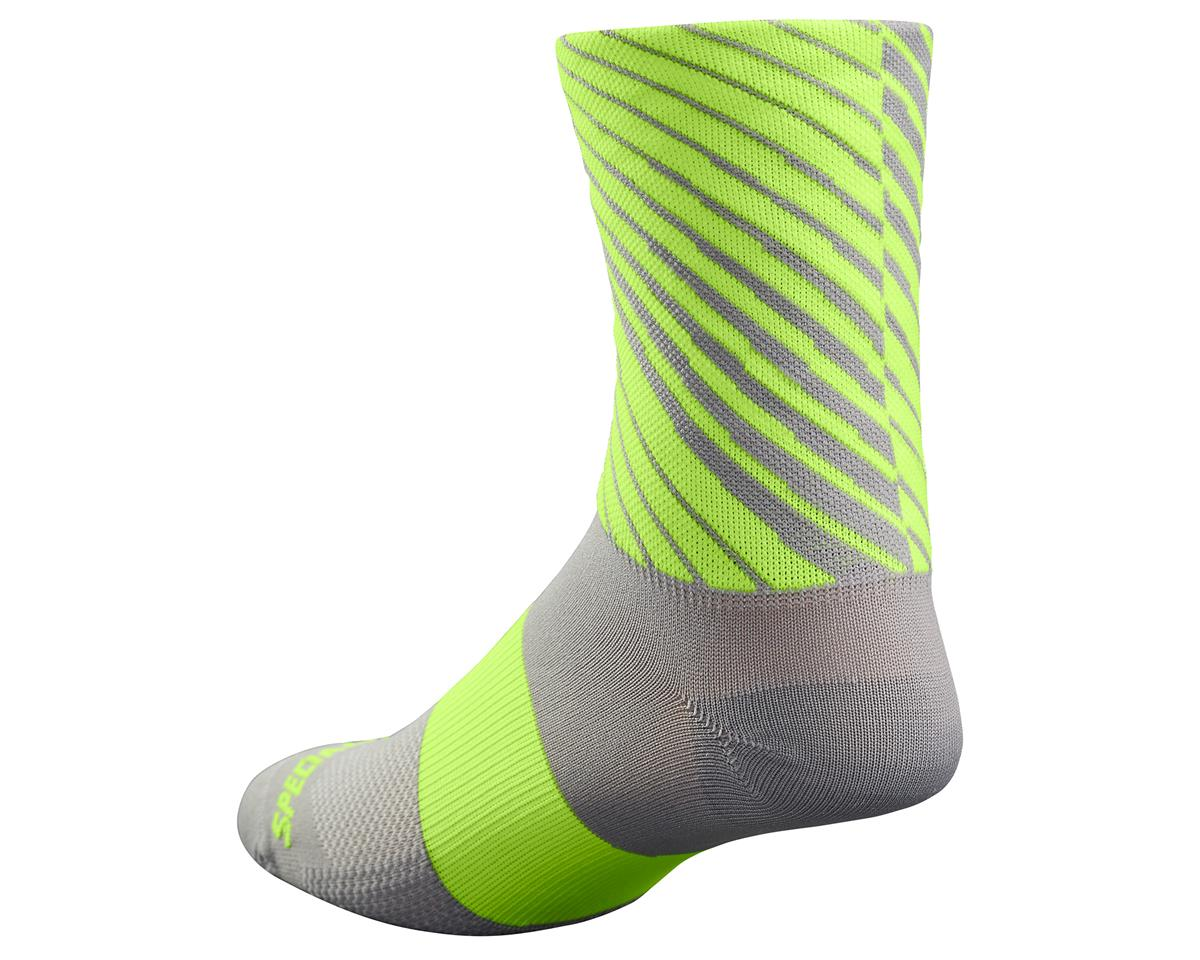 Specialized 2017 RBX Tall Socks (Lt Grey/Neon Yellow) (S/M)