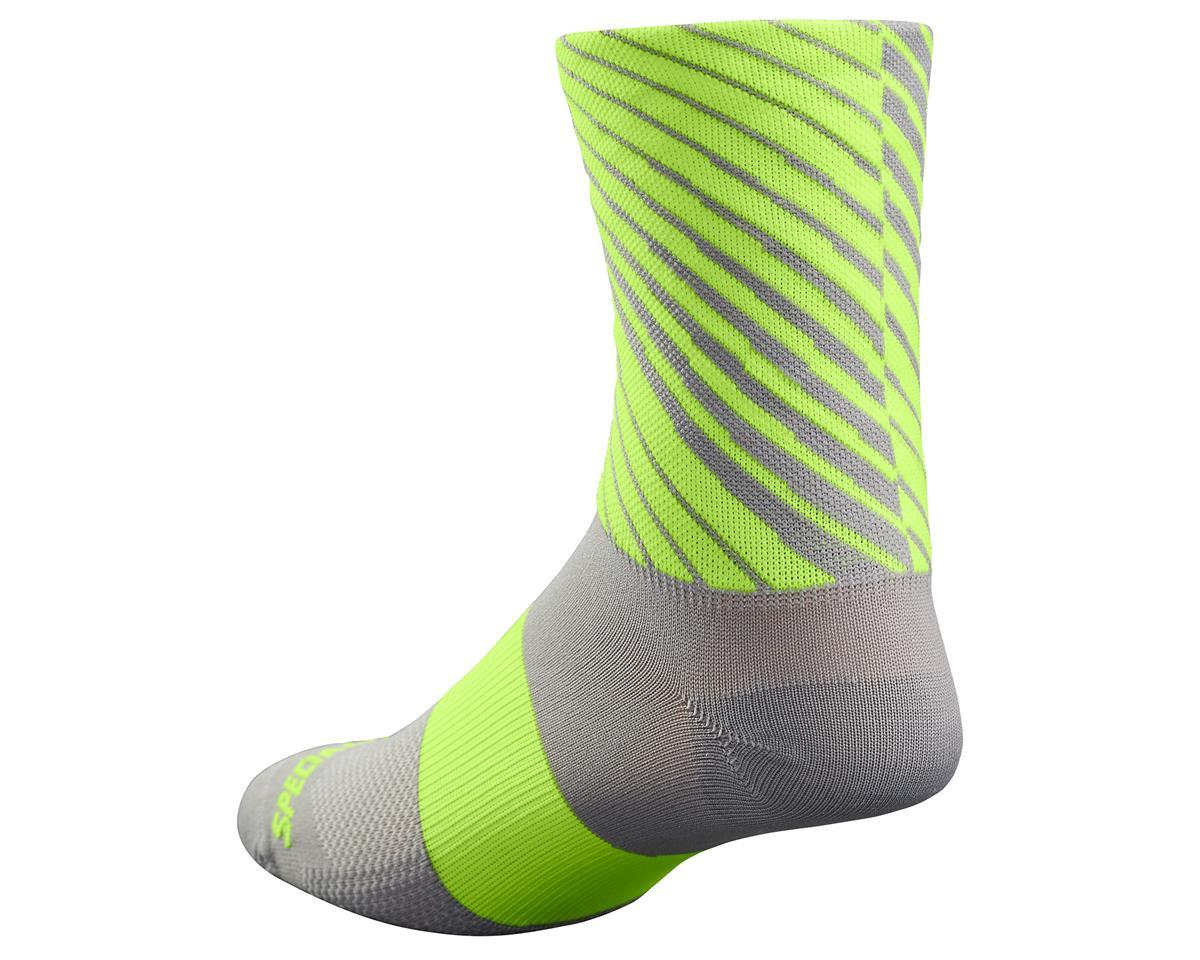 Specialized 2017 RBX Tall Socks (Lt Grey/Neon Yellow) (L/XL)
