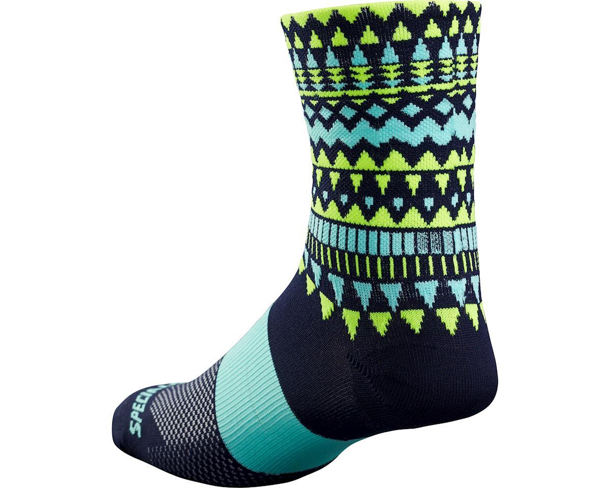 Specialized RBX Tall Socks (Navy/Neon Yellow)