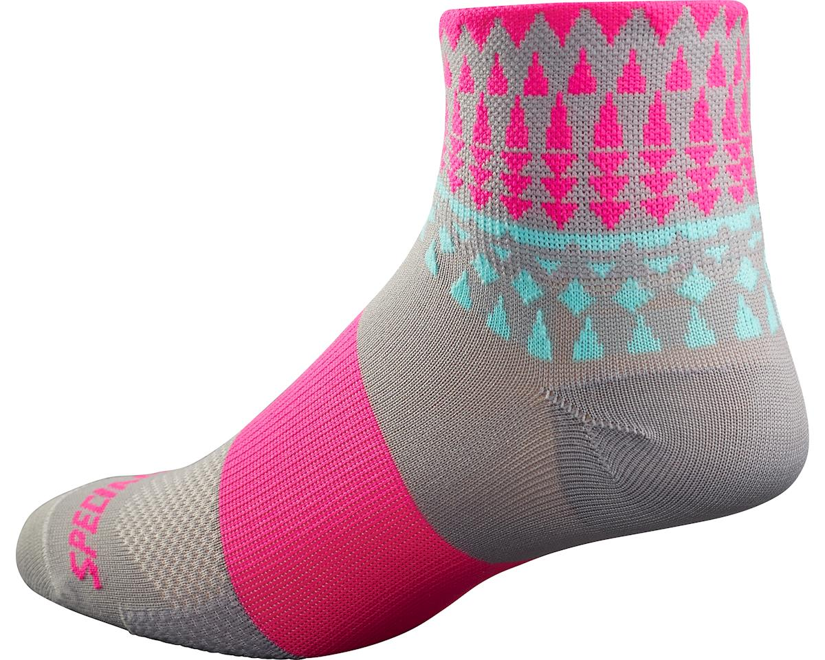 Specialized RBX Women's Mid Socks (Light Grey/Neon Pink) (XS/S)