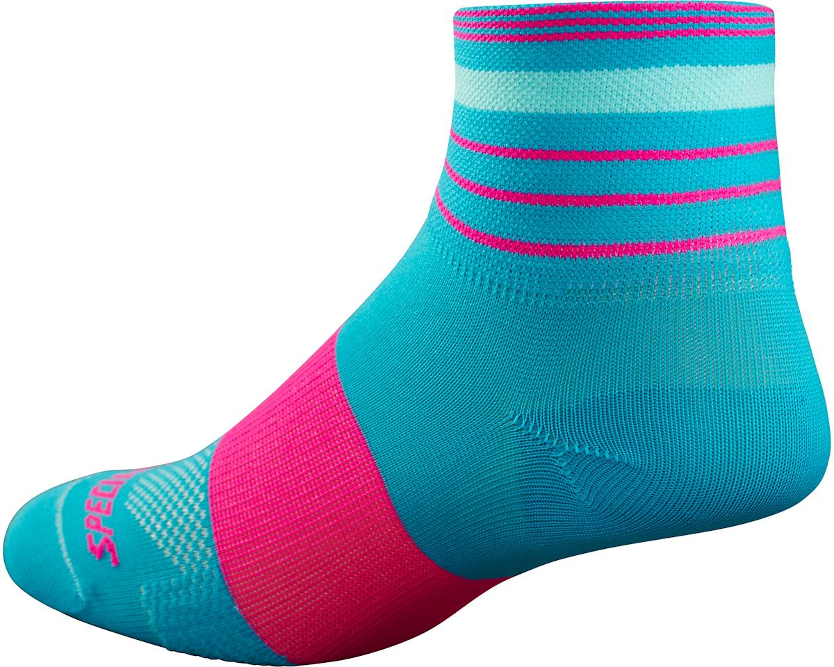 Specialized RBX Women's Mid Socks (Turquoise/Neon Pink)