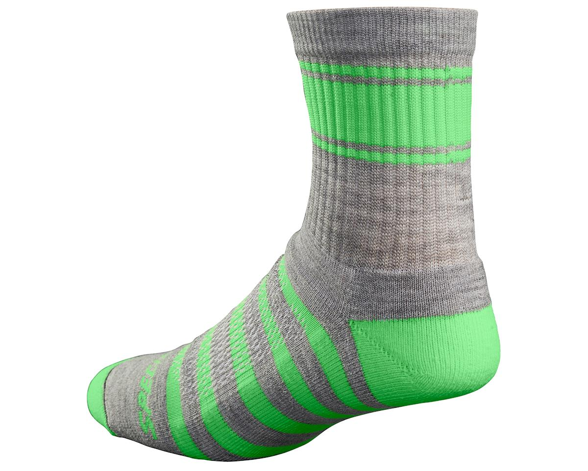 Specialized 2017 Mountain Tall Socks (Lt Grey/Green) (S/M)