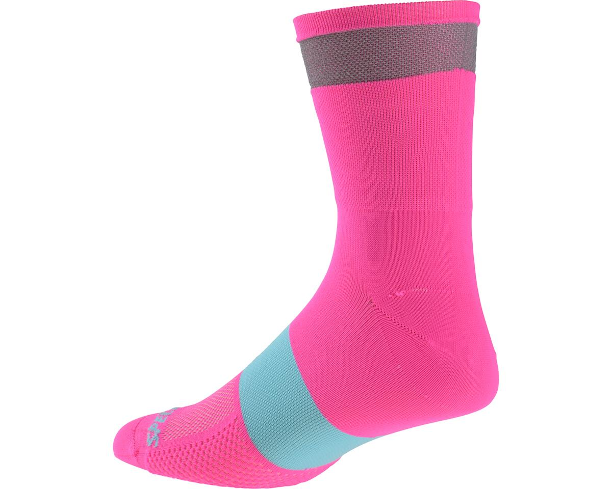 Specialized Women's Reflect Tall Socks (Neon Pink)