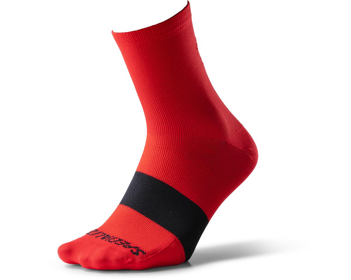 Specialized Road Mid Socks (Red/Black) (S)