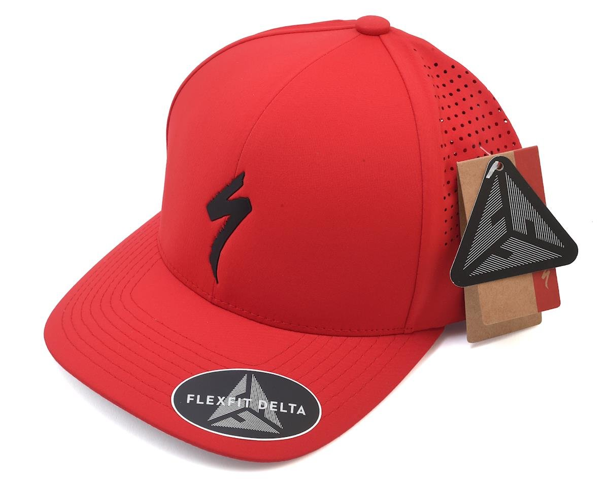 Specialized Flexfit Hat (Red/Black) (One Size Fits Most)