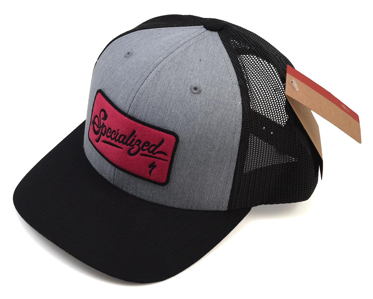 Specialized Trucker Hat (Heather Gray/Black/Bright Pink) (One Size Fits Most)