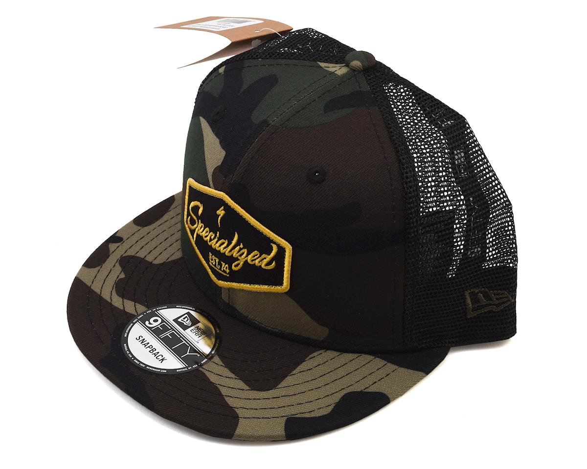 Specialized Snapback Trucker Hat (Camo/Black/Burnt Yellow) (One Size)
