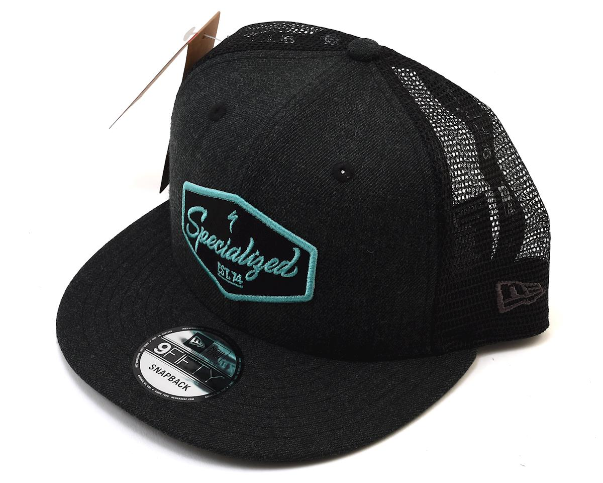 Specialized Snapback Trucker Hat (Heather Black/Acid Mint) (One Size)