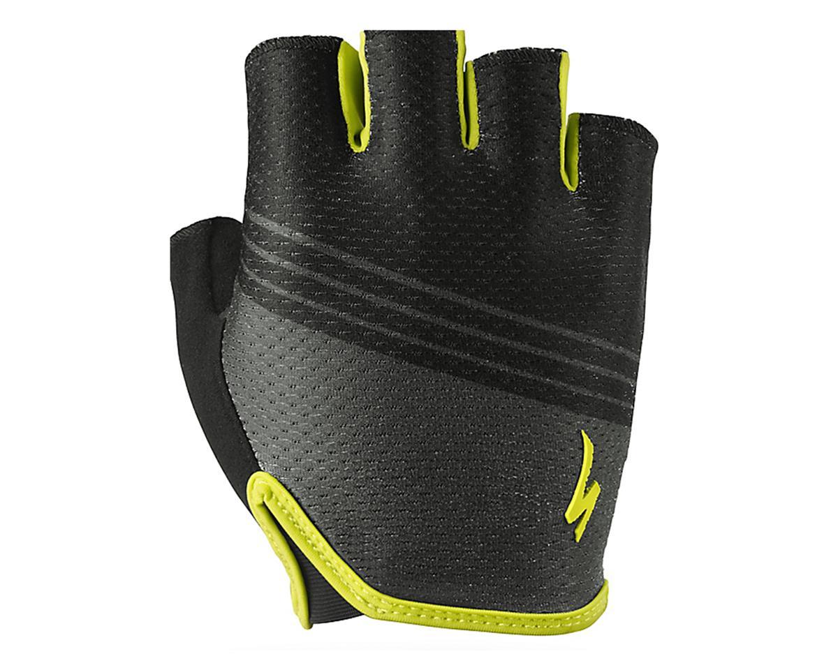 Specialized Body Geometry Grail Short Finger Glove (Black/Hyper Green)