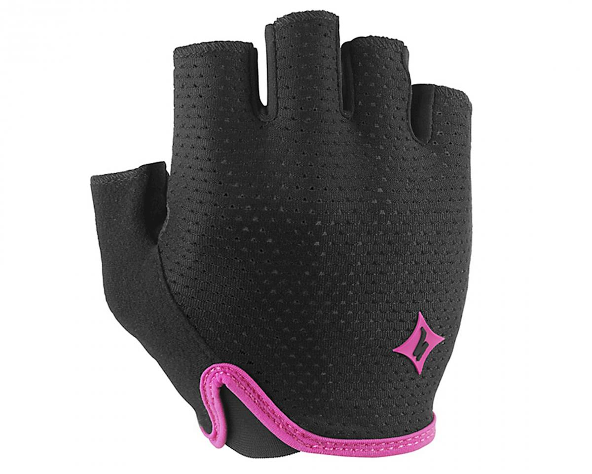 Specialized Body Geometry Grail Women's Short Finger Glove (Black/Pink) (L)