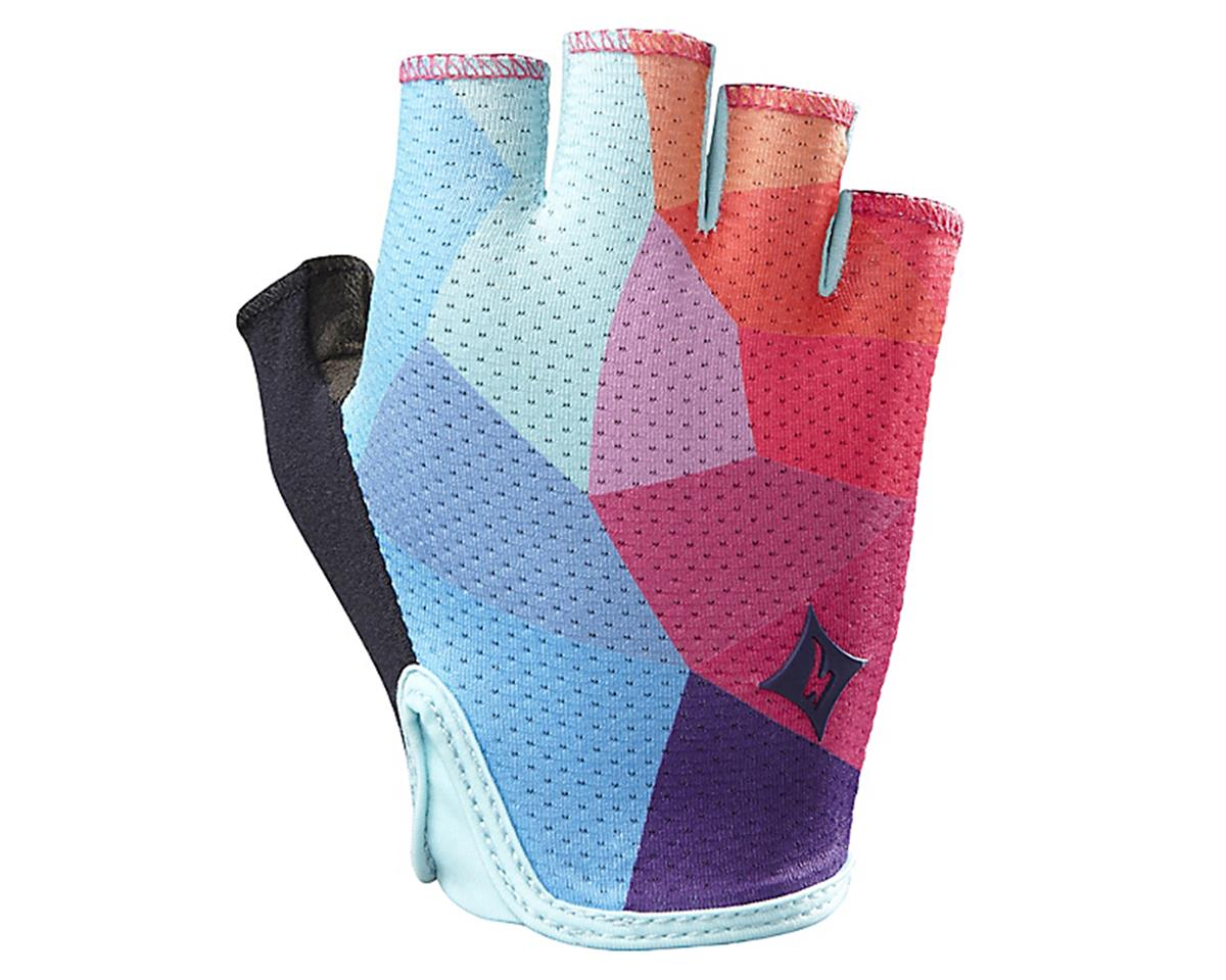 Specialized Body Geometry Grail Women's Short Finger Glove (Turquoise/Geo Fade)