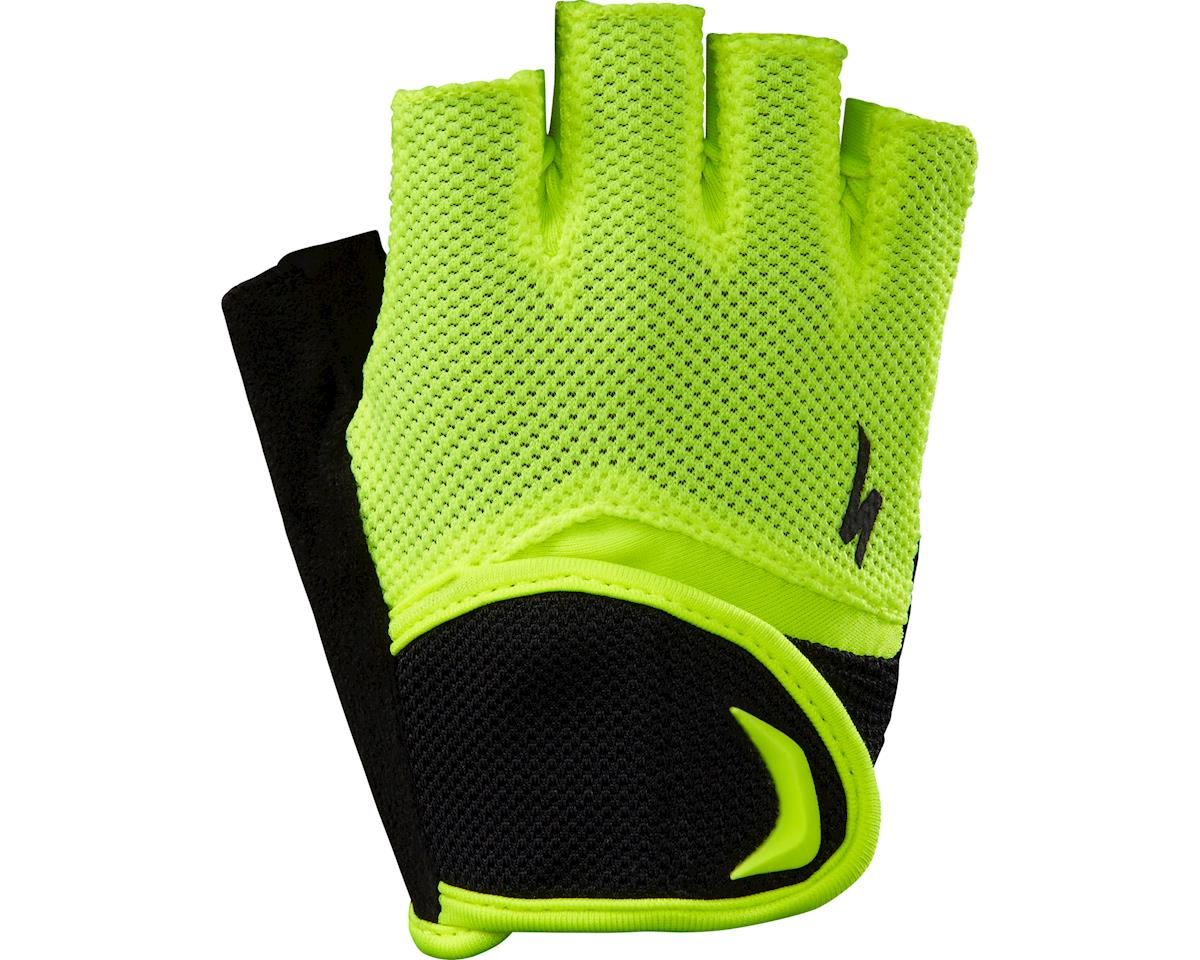 Specialized Body Geometry Kids Gloves (Black/Neon Yellow) (XL)