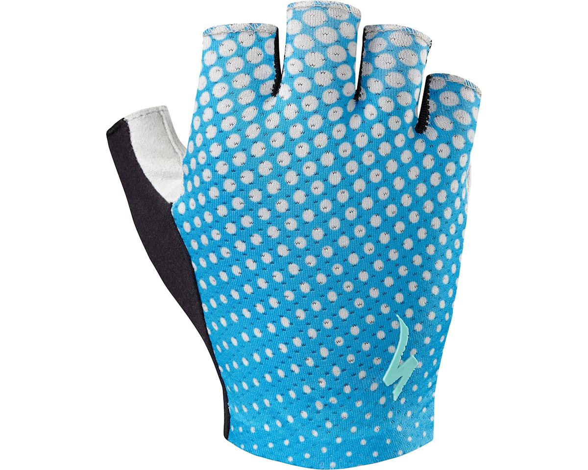Specialized Women's Grail Gloves (Neon Blue/Geo Crest)