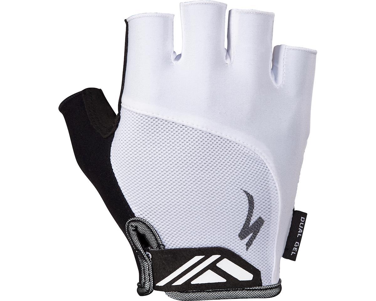 Specialized Body Geometry Dual-Gel Gloves (White) (S)