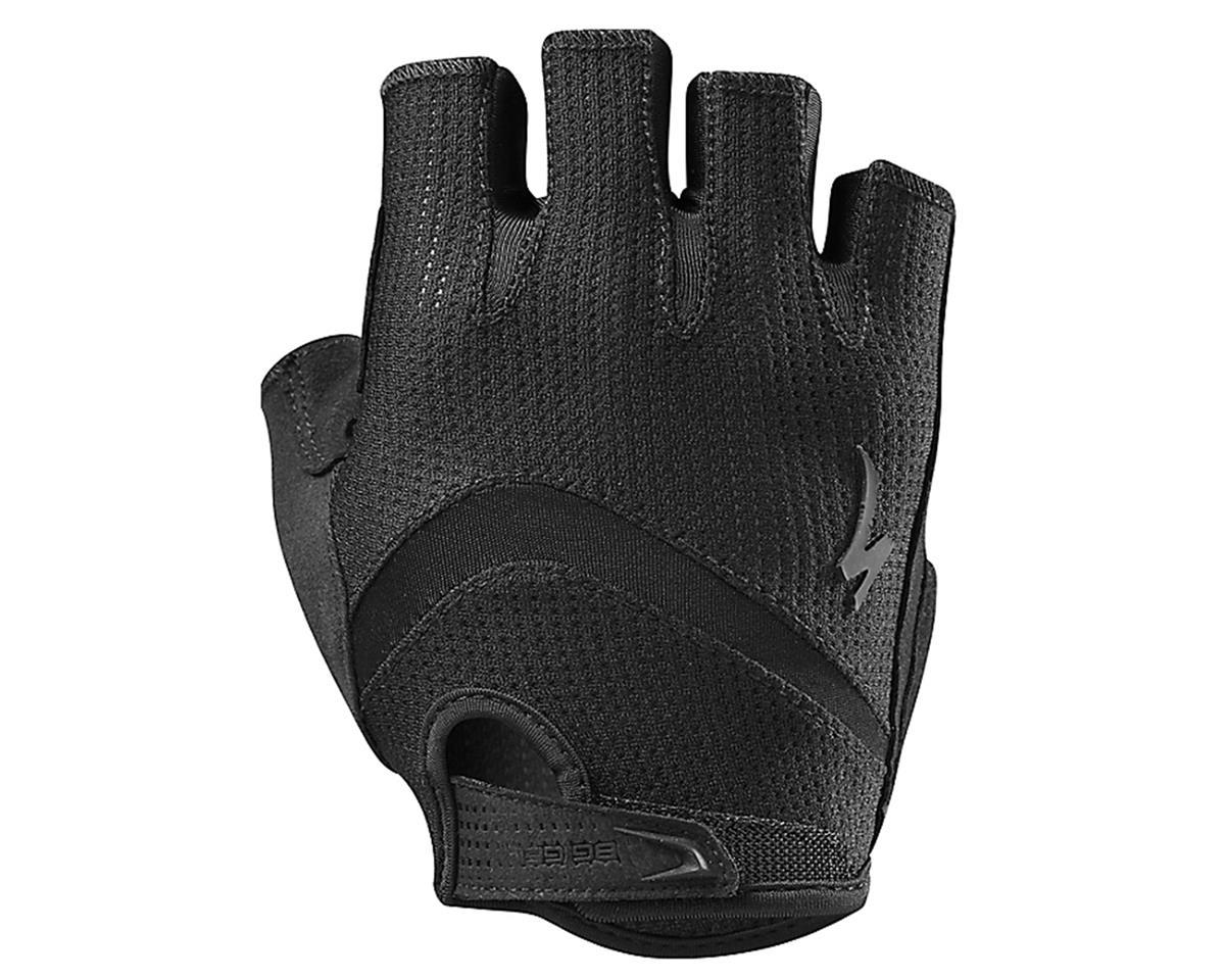 Specialized Body Geometry Gel Short Finger Glove (Black/Black) (XL)