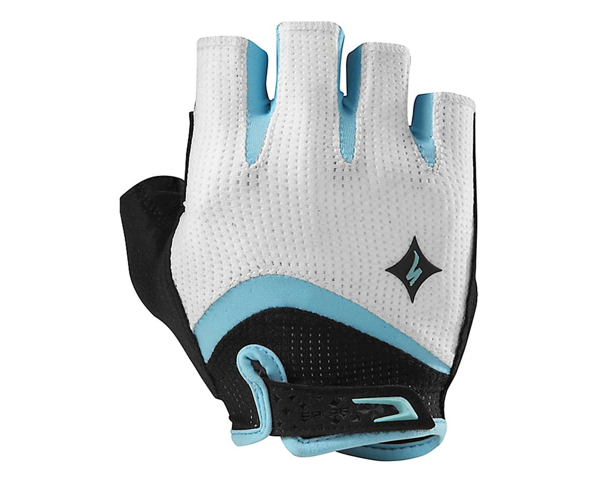 Specialized Body Geometry Gel Short Finger Women's Glove (White/Light Teal)
