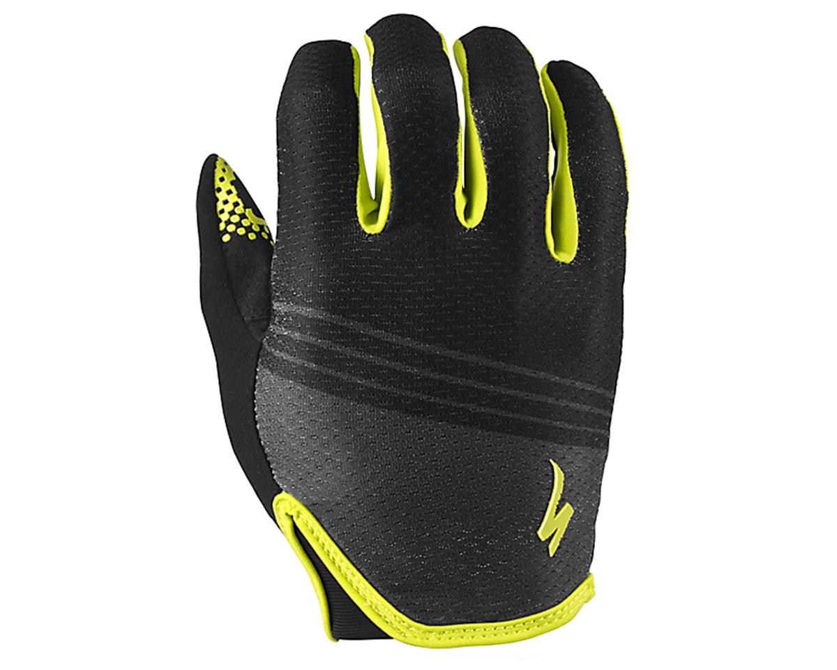Specialized Body Geometry Grail Long Finger Glove (Black/Hyper Green)