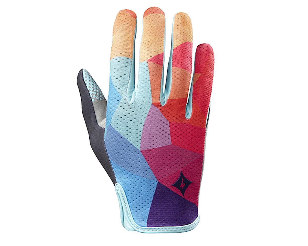 Specialized Body Geometry Grail Women's Long Finger Glove (Turquoise/Geo Fade) (L)