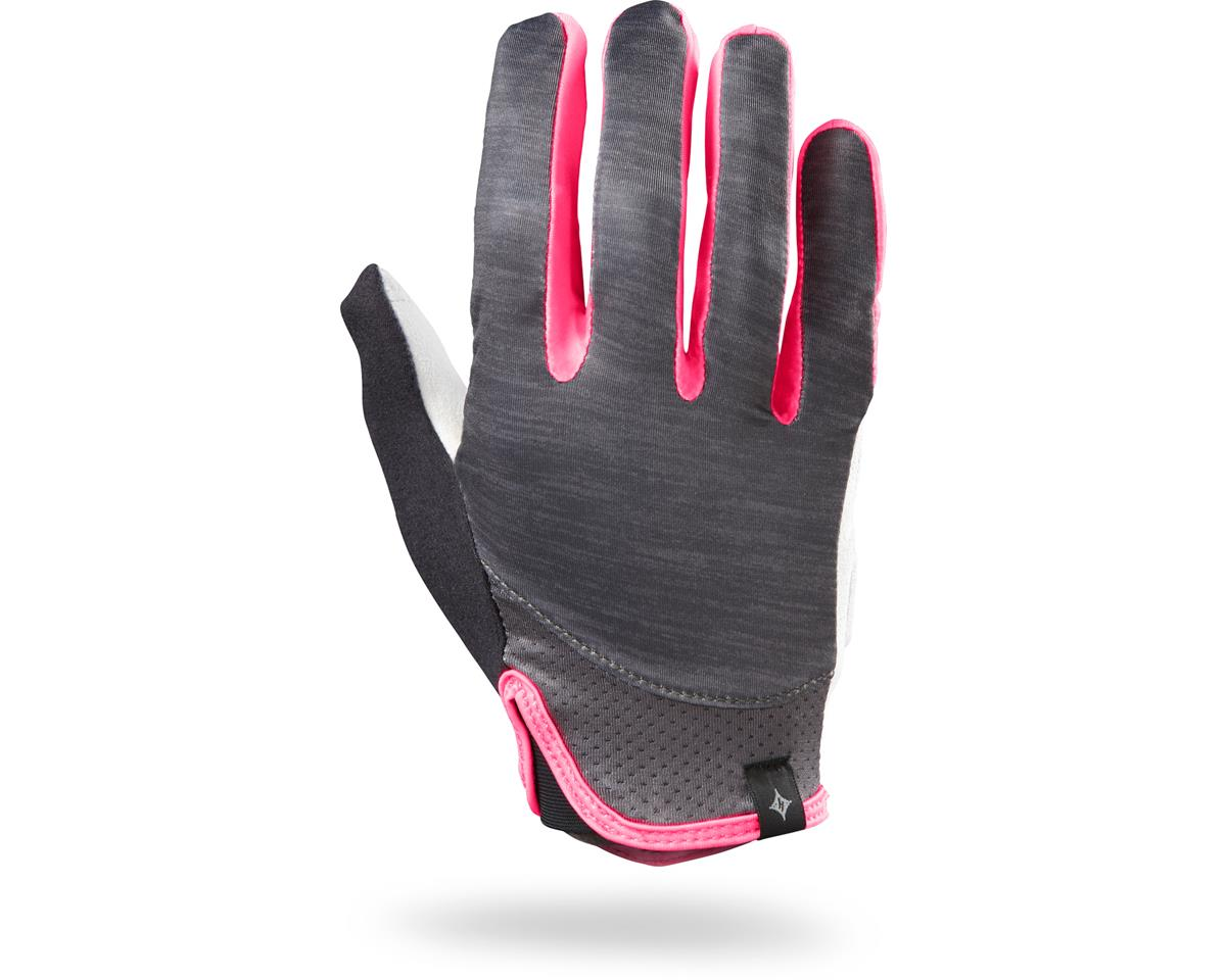 Specialized Women's Trident Long Finger (Carbon Heather/Neon Pink)