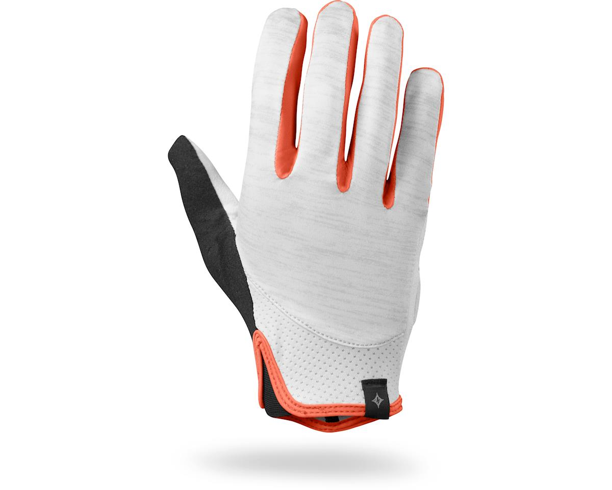 Specialized Women's Trident Long Finger (Lt Grey Heather/Coral)