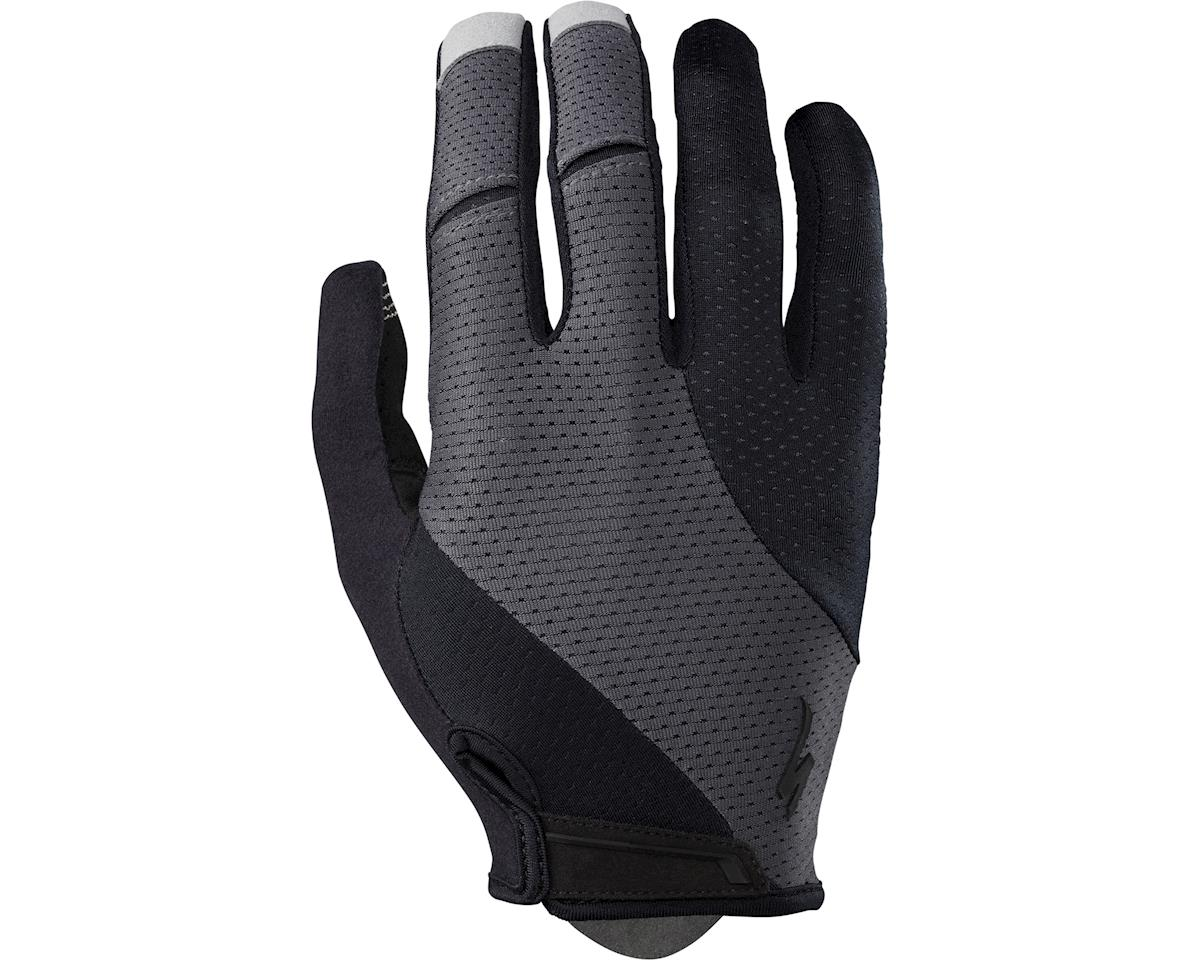 Specialized Body Geometry Gel Long Finger Gloves (Black/Carbon Grey) (2XL)