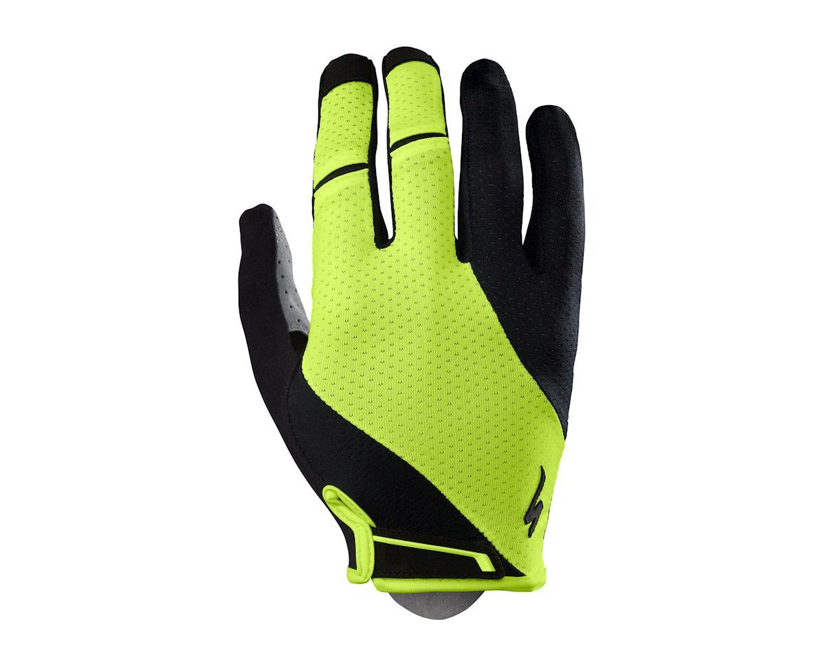 Specialized Body Geometry Gel Long Finger Gloves (Black/Neon Yellow) (2XL)