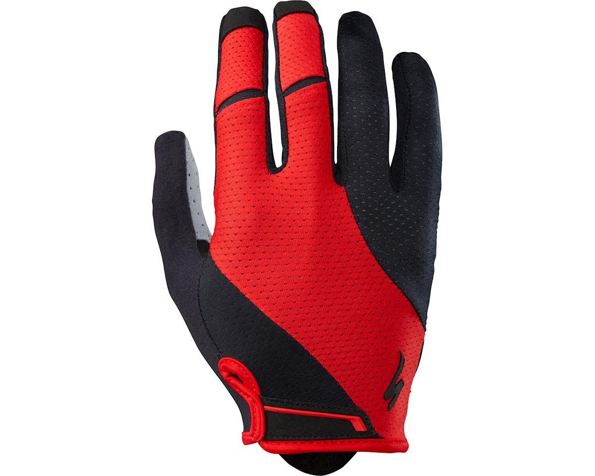 Specialized Body Geometry Gel Long Finger Gloves (Red) (M)
