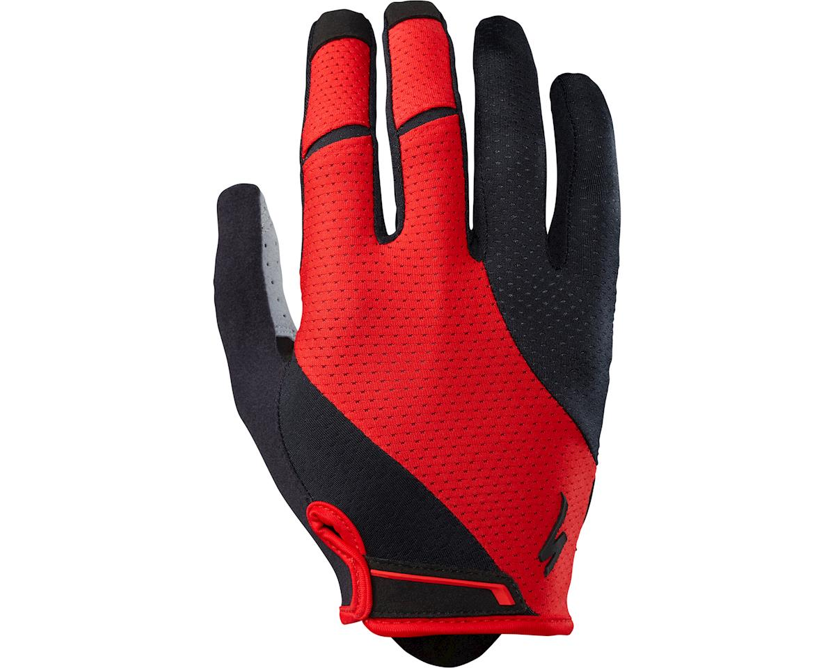 Specialized Body Geometry Gel Long Finger Gloves (Red) (2XL)