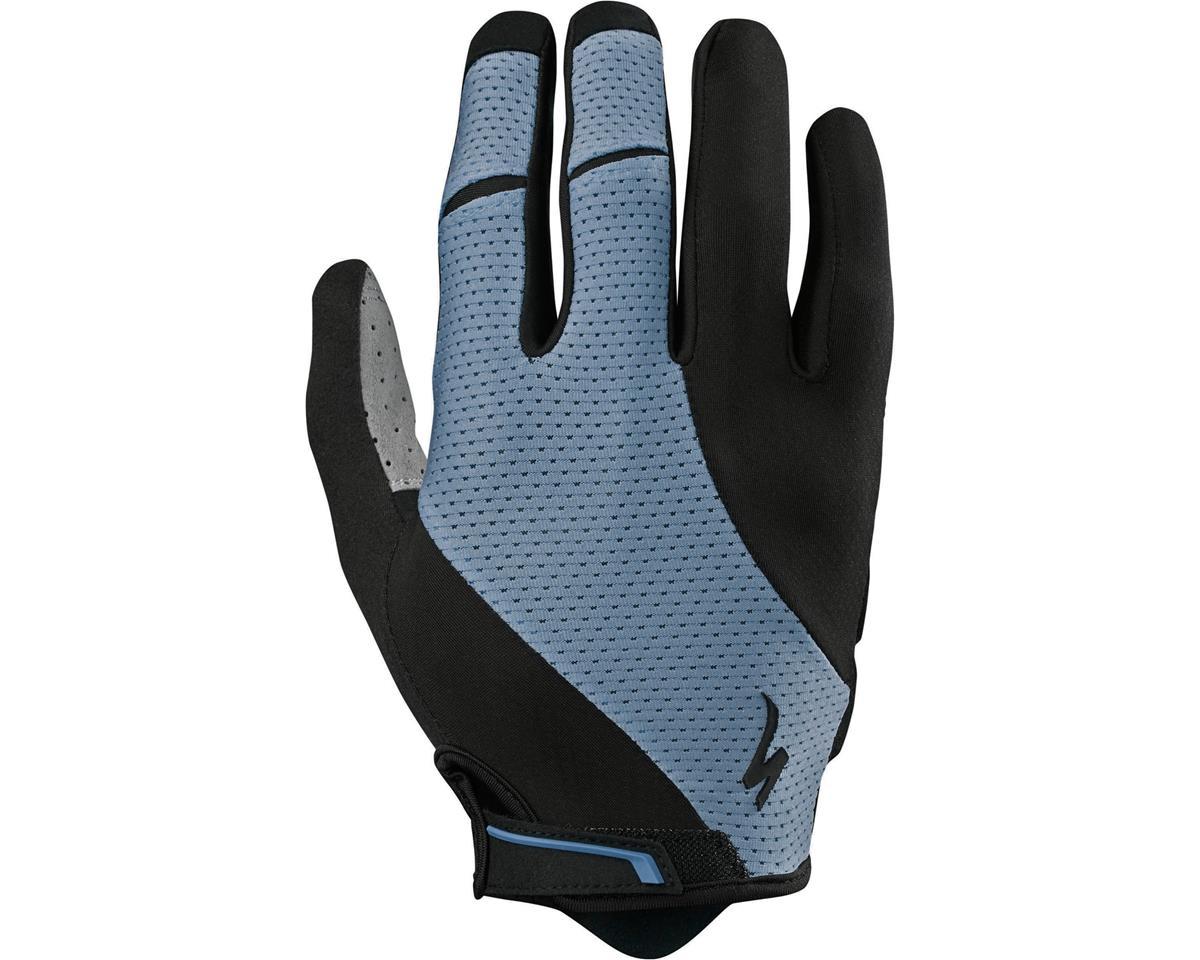 Specialized Body Geometry Gel Long Finger Gloves (Dust Blue)
