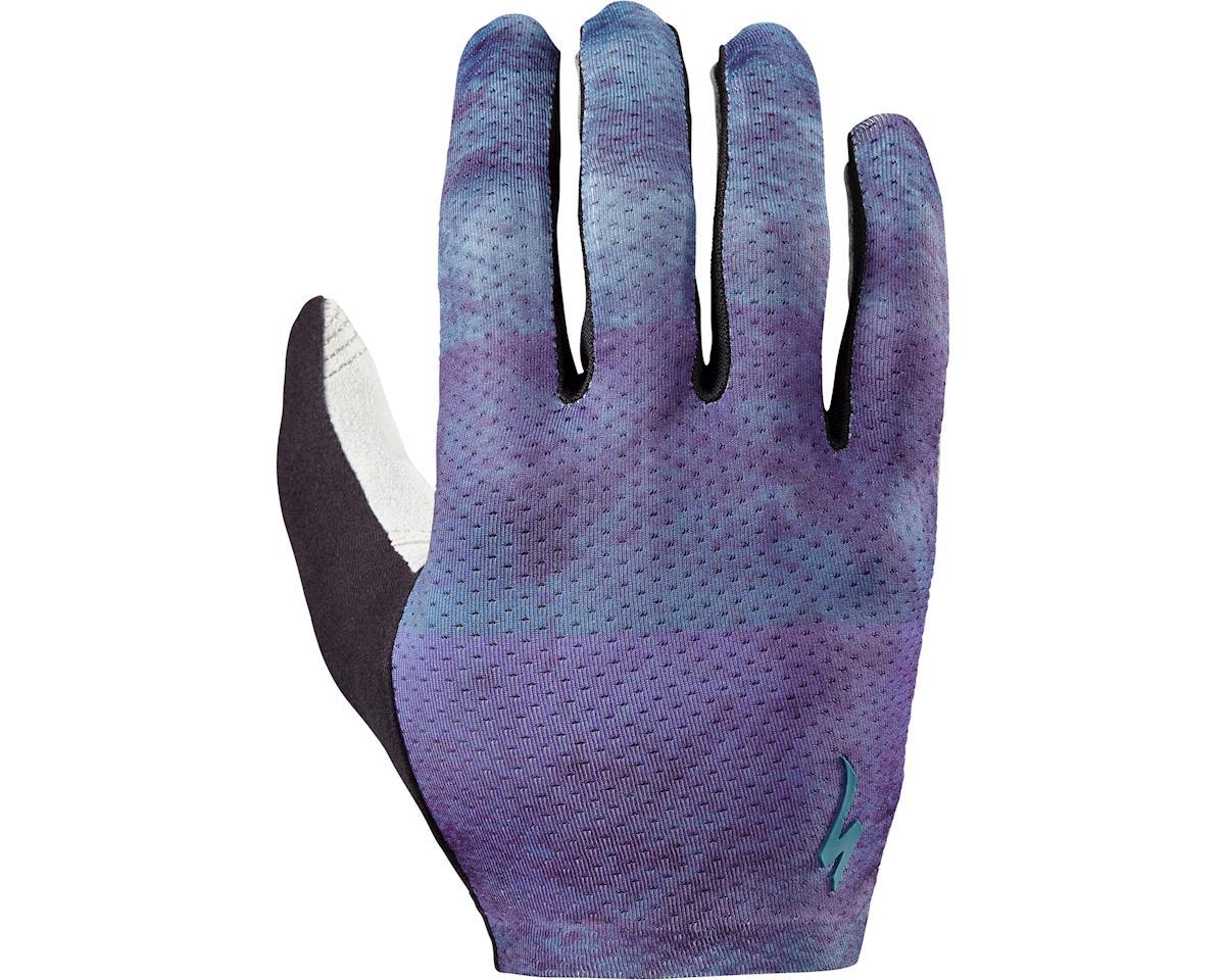 Specialized Grail Long Finger Gloves (Blue/Concrete Block)