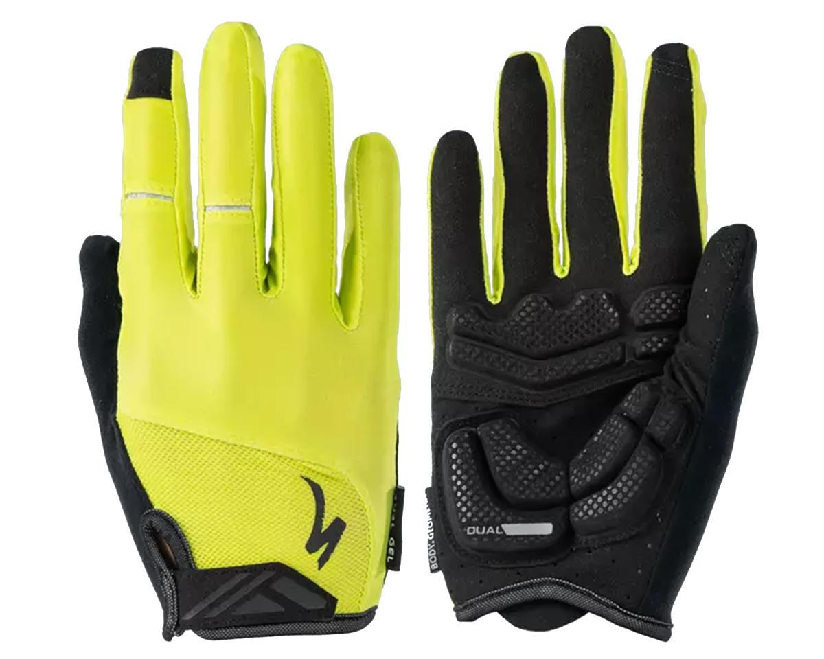 Specialized Body Geometry Dual-Gel Long Finger Gloves (Hyper Green) (M)