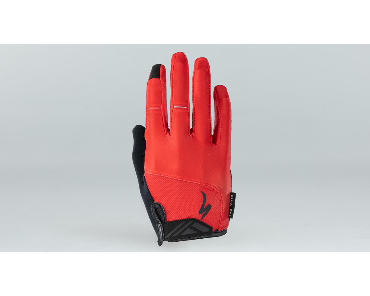 Specialized Body Geometry Dual-Gel Long Finger Gloves (Red)