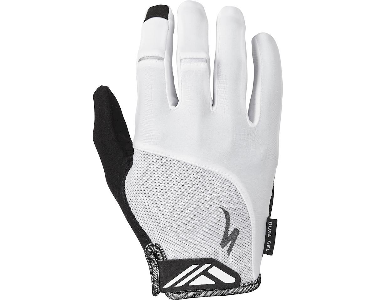 Specialized Body Geometry Dual-Gel Long Finger Gloves (White)